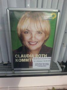 Claudia Roth ist am 31.10.14 im dasHAus in LU zu Gast.